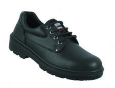 Safetoes S3003 Steel Midsole Black Cowhide Leather Derby Shoe